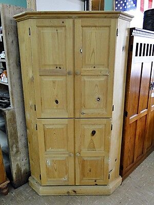 Unfinished Wood Corner Cabinet Lot 59