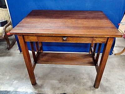 Small Oak Library Table Lot 138