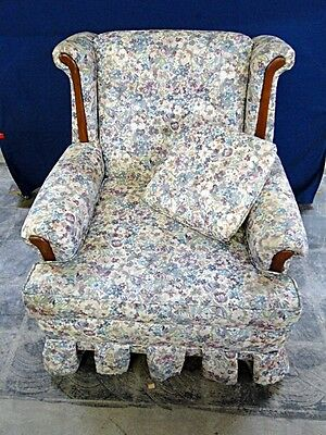 Upholstered Floral Arm Chair Lot 128