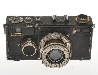 Zeiss Ikon Contax I black paint w. 50/2.8 Tessar exc= sold as is