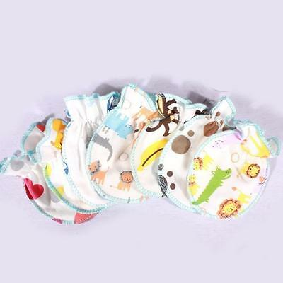 New! 0-6 Months Newborn Baby Gloves Mittens Anti Catch Soft Cotton Gloves BUAU
