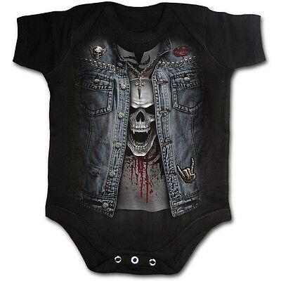 Spiral Direct THRASH METAL Baby Grow/Rock/Kids/Funny/Skull/Goth/Romper/Unisex