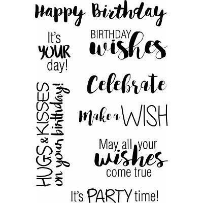 Jane's Doodles Birthday Wishes Clear Stamp, Craft, Scrapbooking, Cards, Stamping