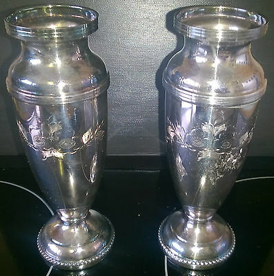 2 x VINTAGE SILVER PLATED SINGLE FLOWER VASES - NEW IN BOXES