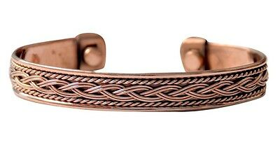 Style Jewelry Health Magnets Energy Pure Copper Magnetic Bracelet Men Women