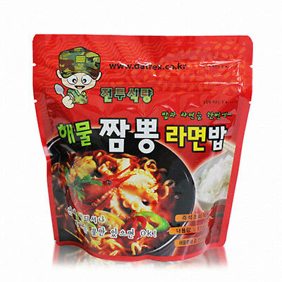 Korean Military MRE Army Ramen Ration Camping Survival Ready Food Meal Hot Pack