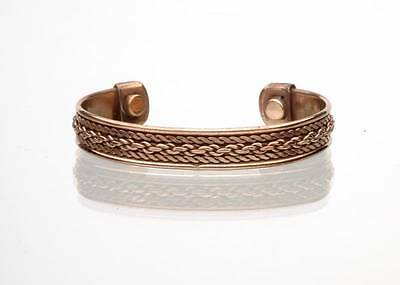 Magnetic Bangle Cuff Copper Bracelet Healing Bio Therapy Arthritis PainRelief IC