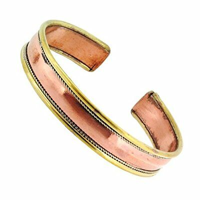 Bracelet Therapy Women  Pain Reliever Pure Copper Magnetic Cuff Arthritis Men IC