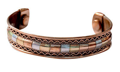 Copper Bracelet Healing Bio Therapy Magnetic Bangle Cuff Arthritis PainRelief IC