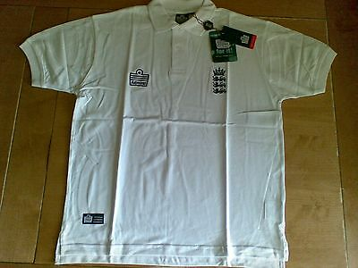 England Admiral Classic Cricket Polo - White - Size XL