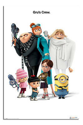 Despicable Me 3 Gru's Crew Poster New - Maxi Size 36 x 24 Inch