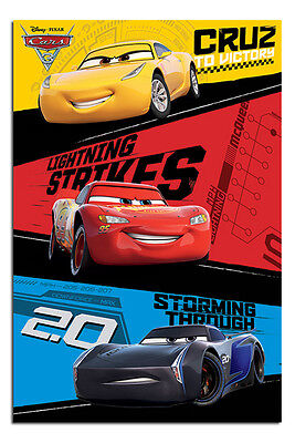 Cars 3 Trio Poster New - Maxi Size 36 x 24 Inch