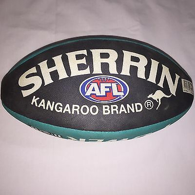 Sherrin Port Adelaide Power Football, Synthetic Rubber,size 3, Brand New AFL