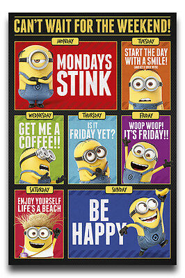 Despicable Me 3 Can't Wait For The Weekend Poster New - Maxi Size 36 x 24 Inch