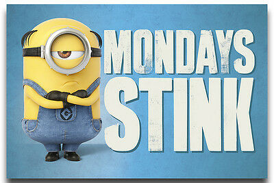 Despicable Me 3 Mondays Stink Poster New - Maxi Size 36 x 24 Inch