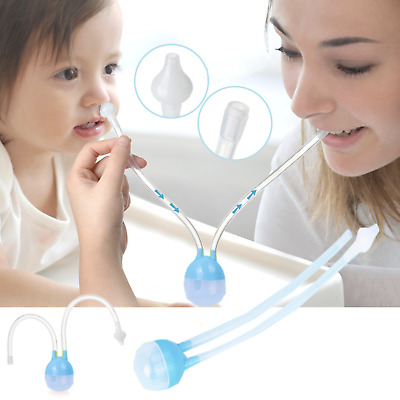 UK Baby Newborn Nasal Vacuum Mucus Suction Aspirator Infant Nose Cleaner