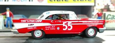 #55 TINY LUND Tiny's Fish Camp 1957 Chevrolet 1/43rd Scale Slot Car Decals