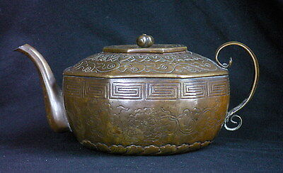 Antique Chinese Bronze Teapot