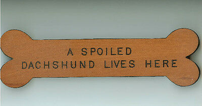 Spoiled Dachshund Bone Sign ~ So Appropriate!