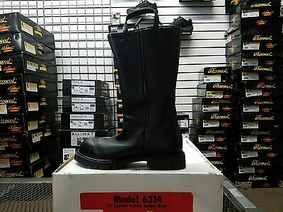 PRO Leather Fire Boots Model 6314 NFPA 1971 2007 Edition Size 7.5M