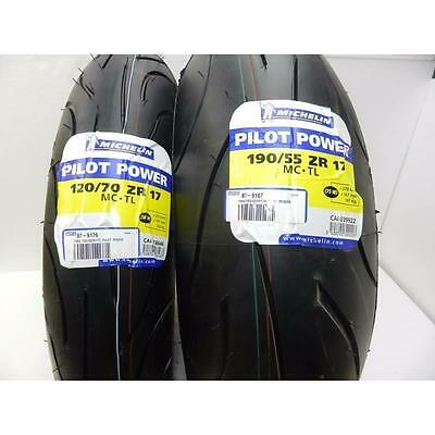 Coppia Gomme Pneumatici Moto Michelin Pilot Power 120/70 17 190/55 17