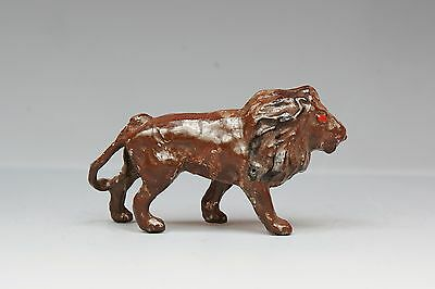CRESCENT METAL ZOO SERIES ANIMALS - Rare MINIATURE Lion, walking - Fine Example