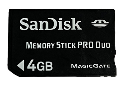 Sandisk 4GB Sony PSP Memory Stick Pro Duo Memory Card Camera Memory Preloved