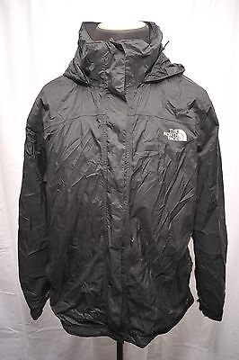 North Face Mens Xxl Jacket Black Hyvent Waterproof & Breathable Fr55