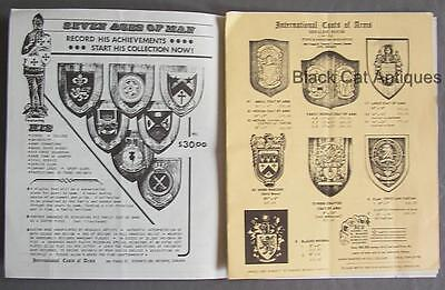 Orig Lot of Two Vintage Richardson's Tartan Shop/Coats Of Arms Catalogs w/Prices