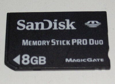 Sandisk 8GB Sony PSP Memory Stick Pro Duo Memory Card Camera Memory