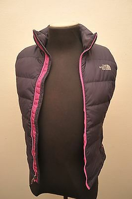 Superb North Face Womens Xs Gilet Waistcoat Purple / Pink Zip Gg95