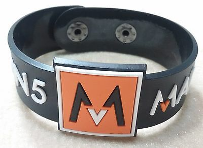 New Maroon 5 Rubber Bracelet Wristband Unisex Women White Souvenirs Day Wb62
