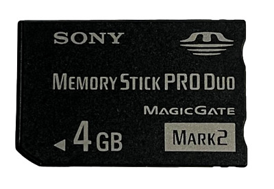 Sony 4GB Sony PSP Memory Stick Pro Duo Mark 2 Memory Card Camera Cybershot