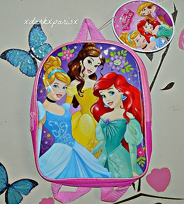 "NEW NWT Disney Princess Shimmer Glitter 10"" Mini Backpack AGES 3+"