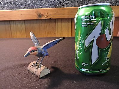 Vintage Folk Art Carved And Painted Humming Bird (#565)
