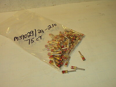 M39029/29-214 Mil Spec Gold Plated Circular Contact 75 Pieces