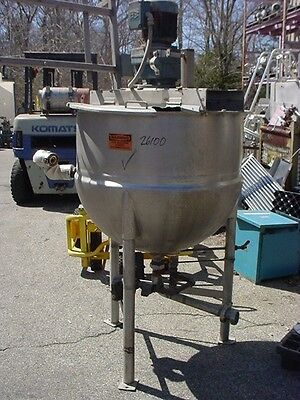 100 gallon LEE INDUSTRIES STAINLESS STEEL SWEEP JACKETED KETTLE