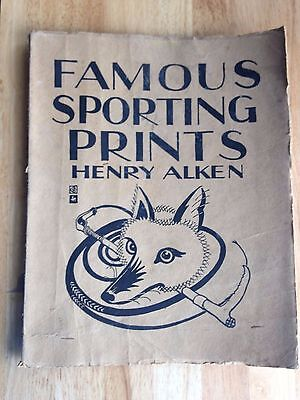 Henry Alken 8 famous sporting prints 1929 shooting fishing hunting steeplchasing