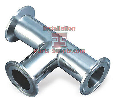 """1.5"""" Equal Tee 304SS Tri-Clover Clamp Sanitary Fitting Water Beer Wine Dairy Bar"""