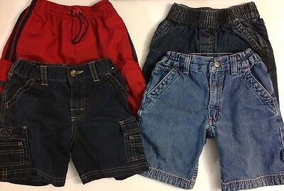 Boys Shorts Lot Size 4 Denim Navy Blue Red Spring Summer Clothes Polo Gymboree