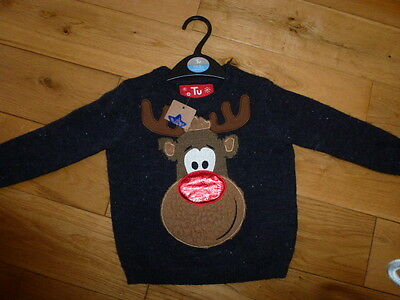 Jumper BNWT 1-1.5 years Boys Xmas reindeer Brand new