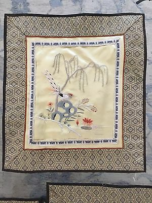 Collectible Vintage Chinese Hand Made Silk Embroidery Textile Pictures Ornament