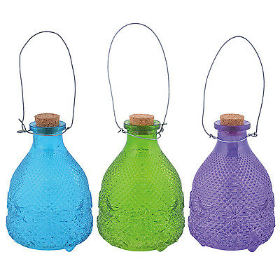 WASP TRAP GLASS 9,8 x 9,8 x14 cm INSECT TRAP Wasp - CHOOSE FROM 3 COLOURS