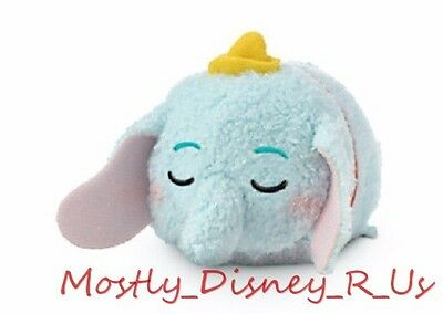 "New Disney Store Dumbo Tsum Tsum Plush 3.5"" Mini Toy Doll Expressions Sleeping"