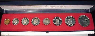 1975 Switzerland 8 Coin Proof Set with Sleeve         **FREE U.S. SHIPPING**