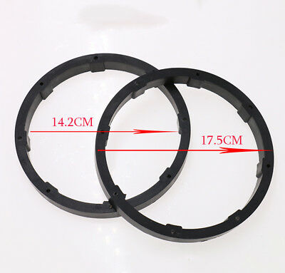2Pcs Speaker Spacers Auto Car Truck Black 6.5 inch Plastic Speaker Spacers