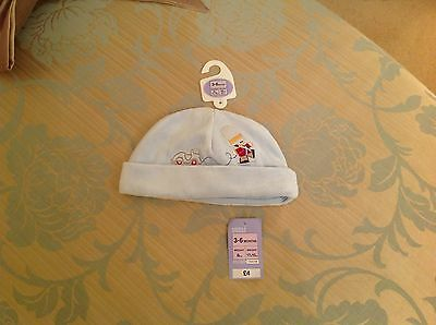 MARKS & SPENCER BABY VELOUR HAT - 0-3m  EXCELLENT BRAND NEW WITH TAGS