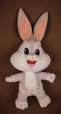 Bugs Bunny baby plush doll in diaper * Tyco 1995 Loveables * Looney Tunes toons