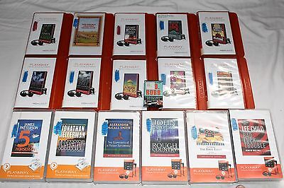 Lot of 17 Playaway Thriller/Mystery Audiobooks Sandford/Patterson/Smith