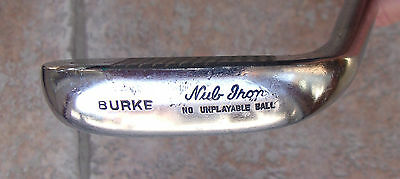 "Vintage Burke Nub Iron 12"" Vintage Collectible Golf Club Dot Punch Double Sided"
